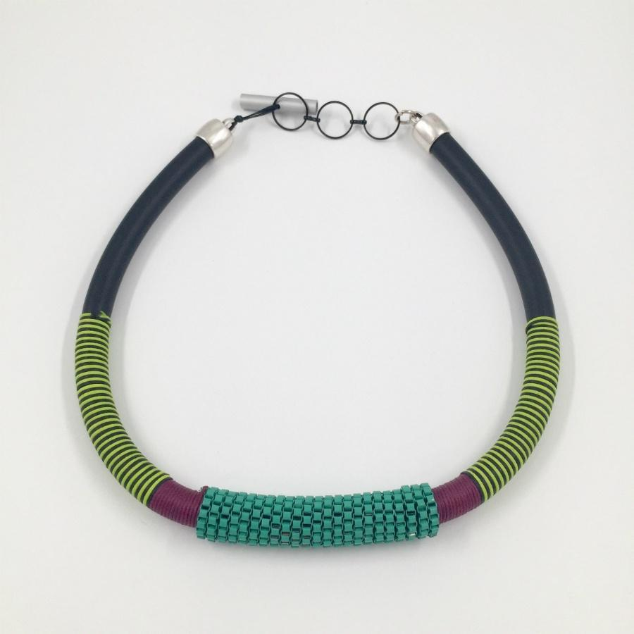 Christina Brampti Single African Necklace / Green