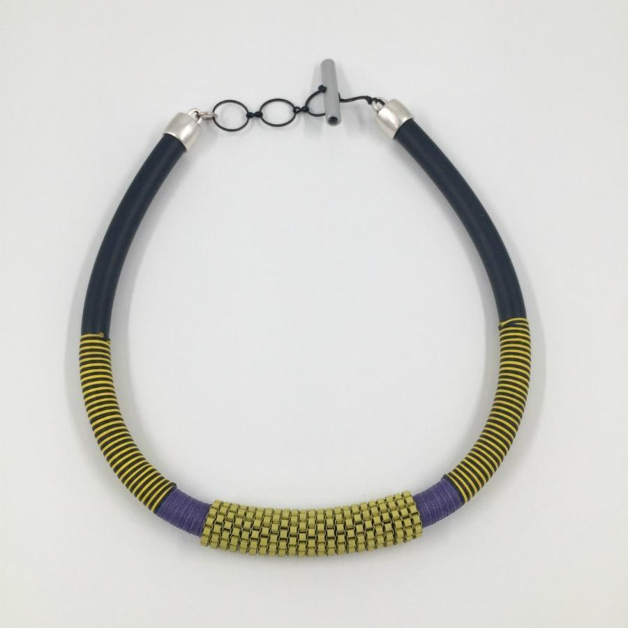 Christina Brampti Single African Necklace / Yellow