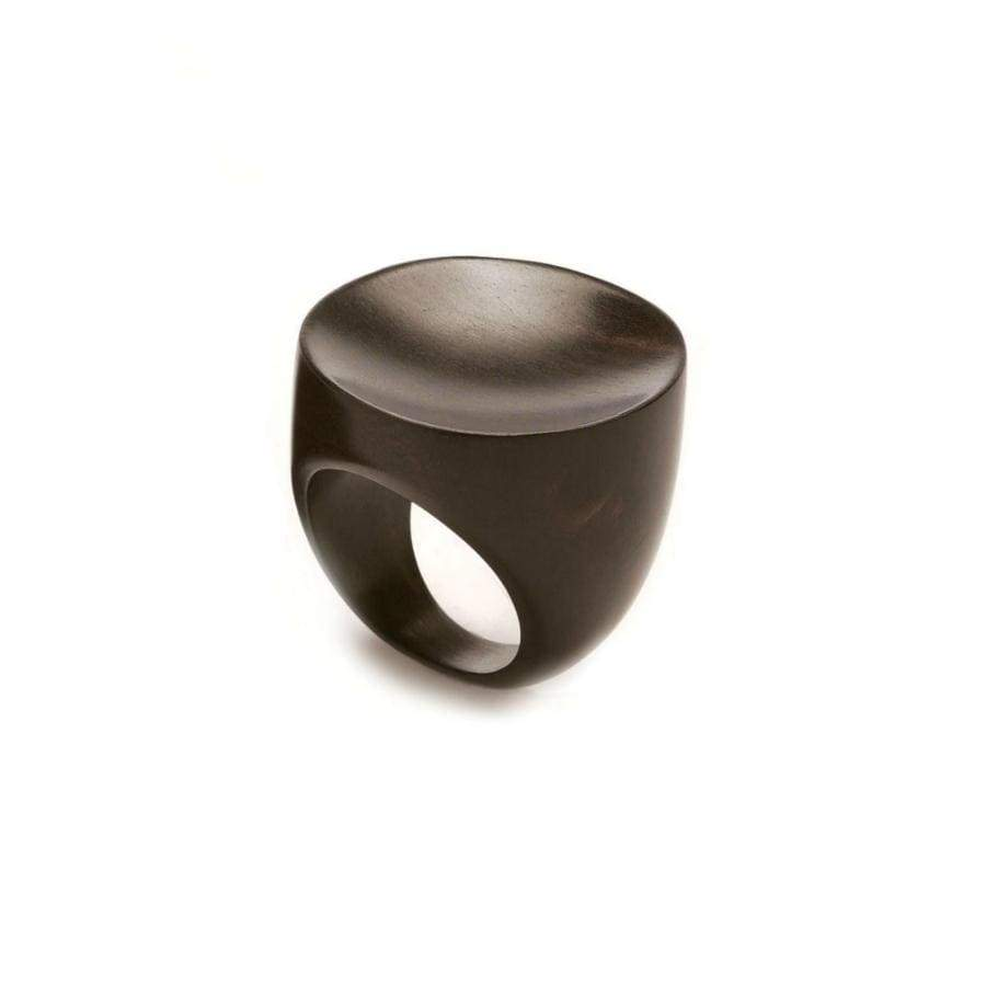 Concave Round Ring | Blackwood