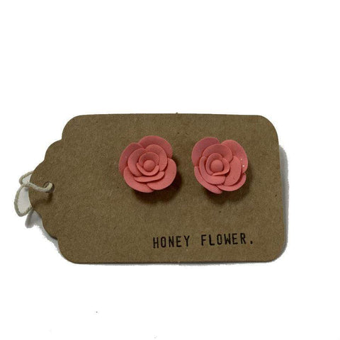Coral Rose Earrings | Made in NZ