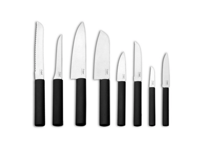 Cutipol Gourmet Line 8 Kitchen Knives set | Charcoal