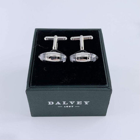 Dalvey Cufflinks | Zeppelin Target | Black Onyx + Mother of Pearl
