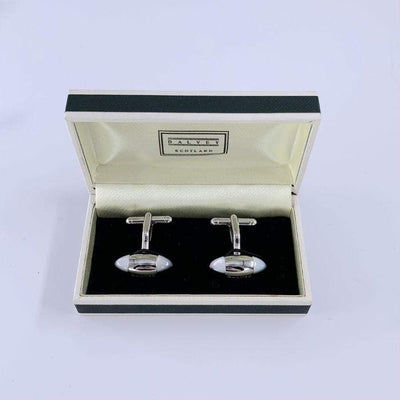 Dalvey Zeppelin Cufflinks Black Onyx and Mother of Pearl