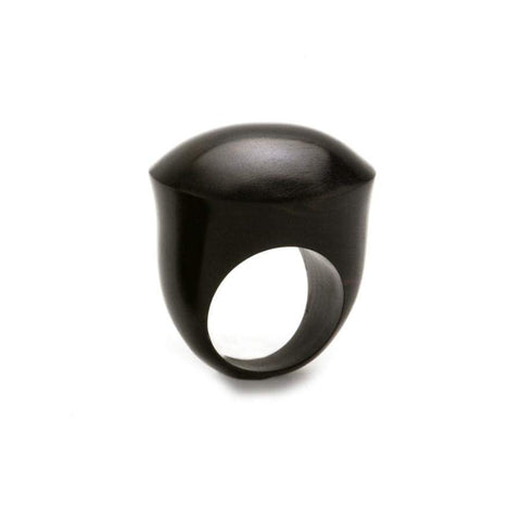 Domed Round Ring | Blackwood