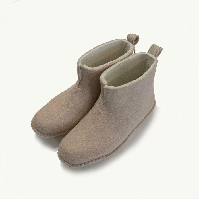 Dusty Rose Boot | Felt Slippers