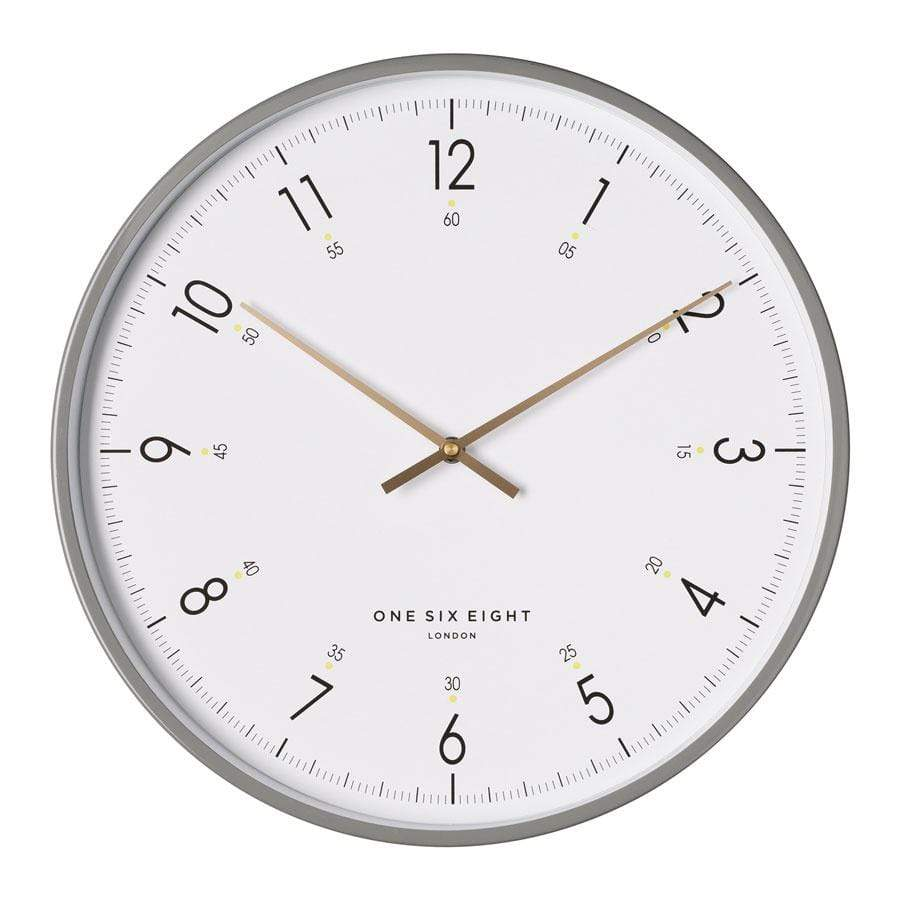 Elio 40cm silent wall clock - White