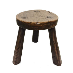 Marvelous Elm And Oak Milking Stool 3 Legs Pabps2019 Chair Design Images Pabps2019Com