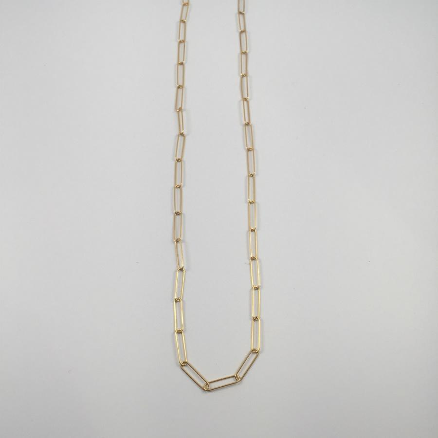 Elongated Chain Necklace / Gold Plated