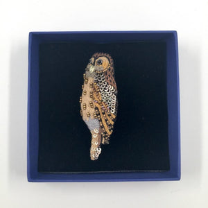 Embellished Brooch / Barn Owl