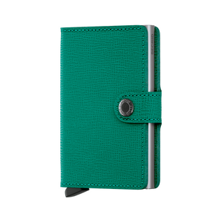Emerald Secrid Mini Crisple Leather Wallet