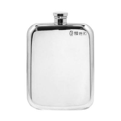 English Pewter Hip Flask - 6oz