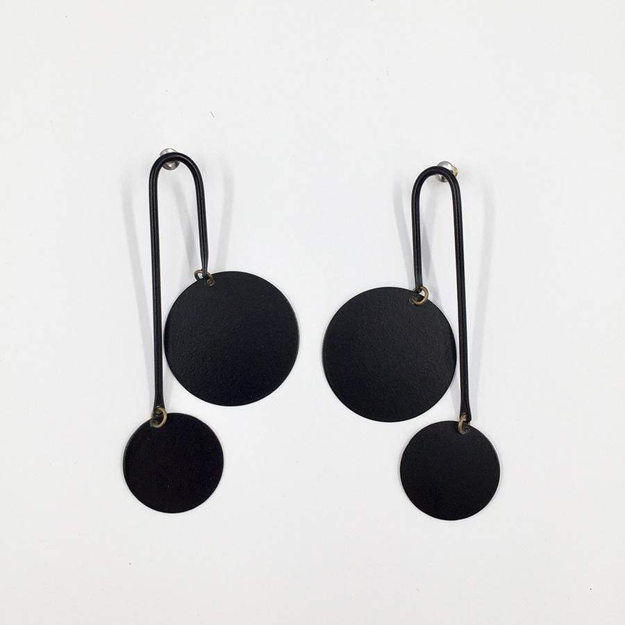 Equilibrium Earrings- Noir