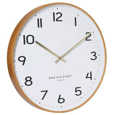 Erika Timber Wall Clock