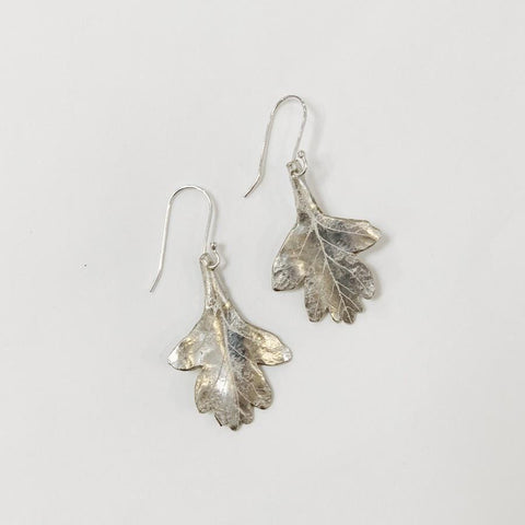 Flying Dog Earrings Small | Oak Leaf