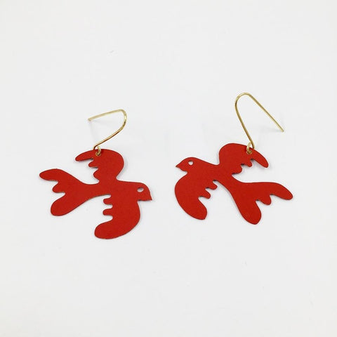 Free as a Bird Earrings - Tomate