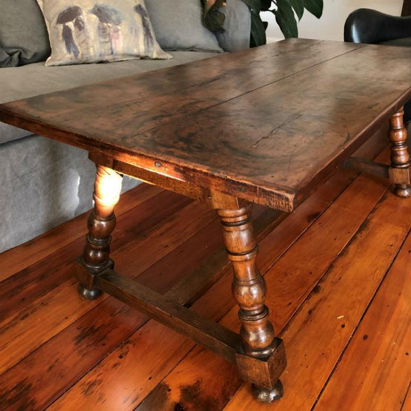 French Antique Cherry Coffee Table Cranfields Wellington