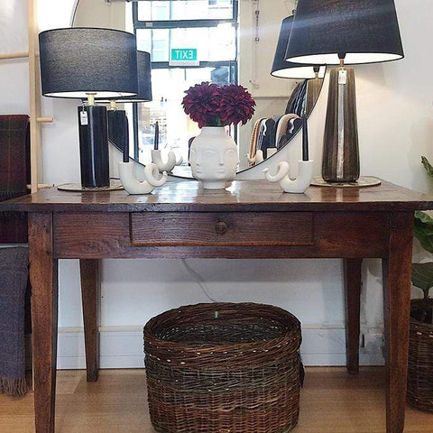 French Antique Oak Side Table
