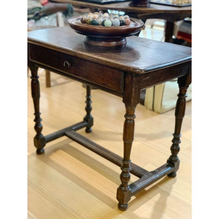 French Antique Oak Side Table - c1800