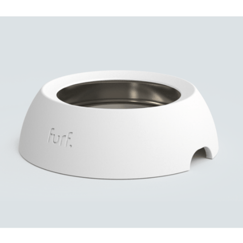 Furf Spill Resistant Pet Bowl Medium / White