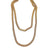 Gold Flat Snake Necklace