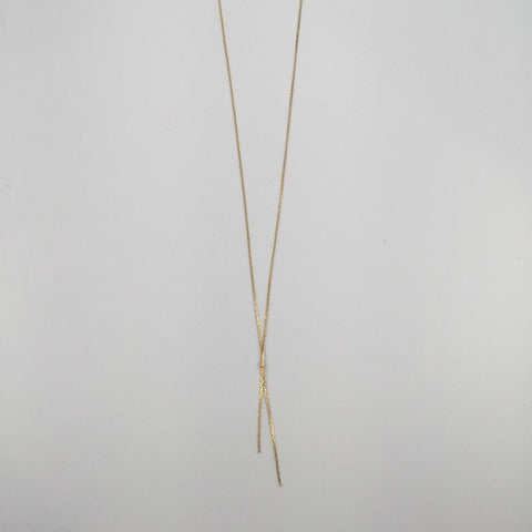Gold Plated Delicate Chain Necklace