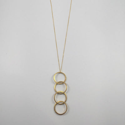 Golden Three Circle Necklace
