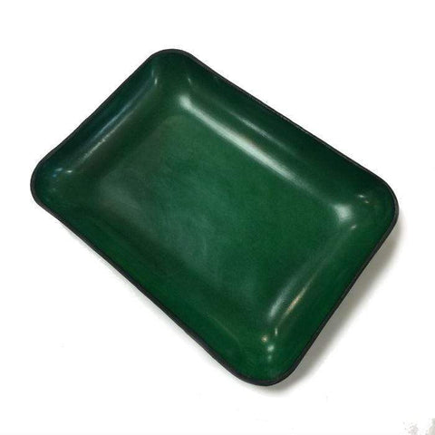 Green Italian Leather Tray
