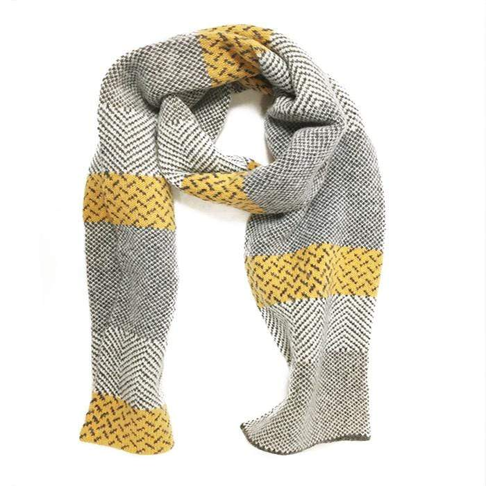 Grey Lambswool Tiree Scarf