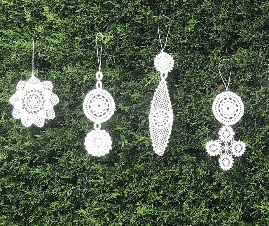 Hanging White Lace Decoration