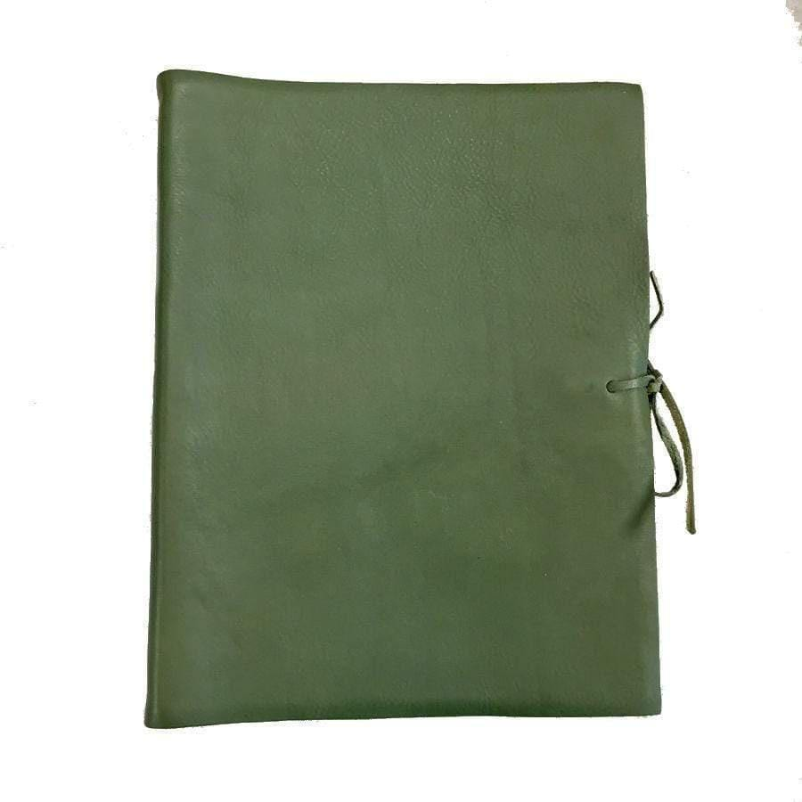 Il Papiro Large Leather Album / Green