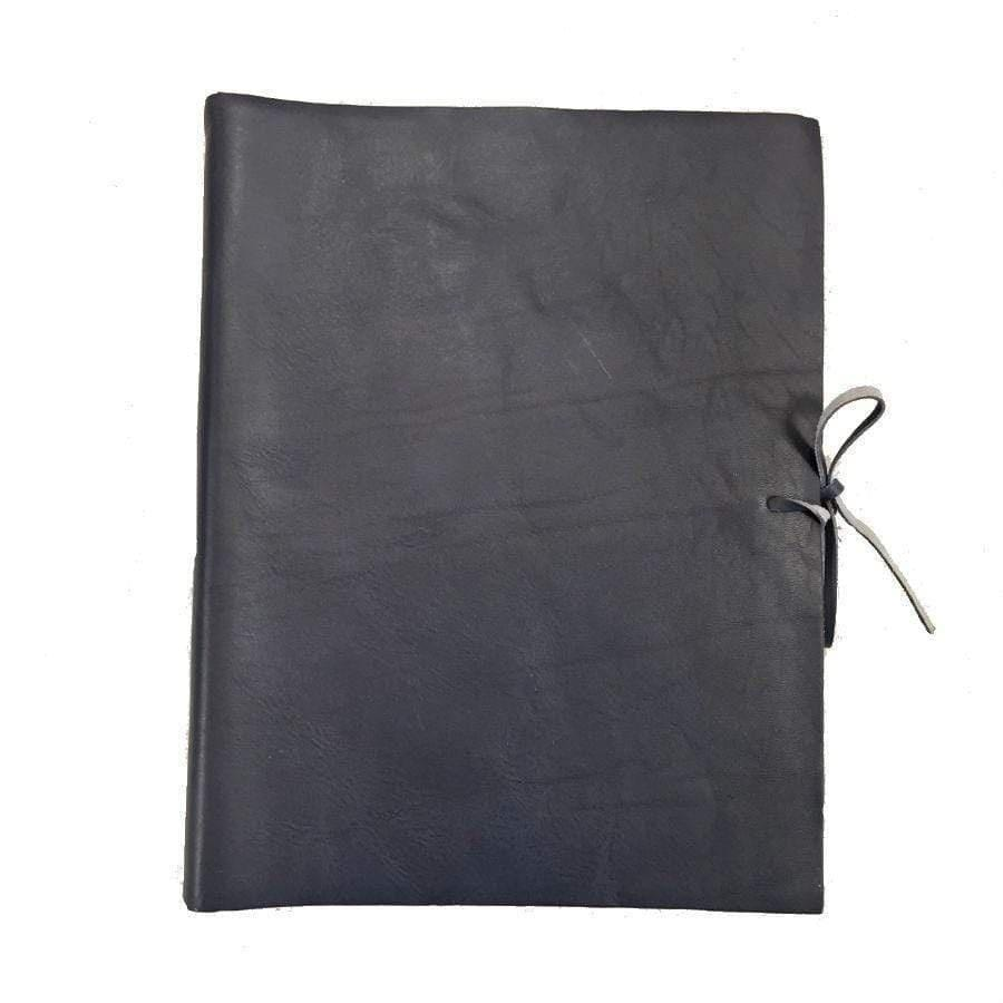 Il Papiro Large Leather Album / Navy