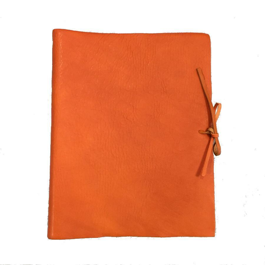 Il Papiro Large Leather Album / Pumpkin