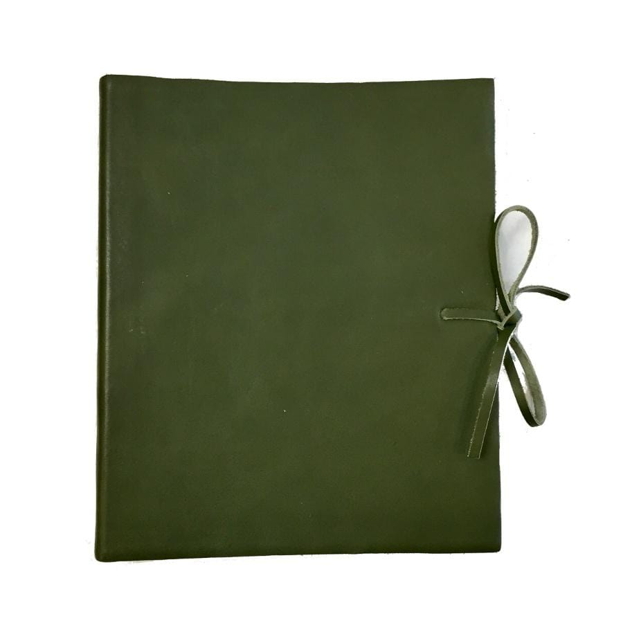 Il Papiro Medium Leather Album / Green
