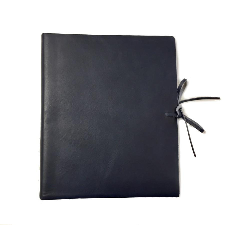 Il Papiro Medium Leather Album / Navy