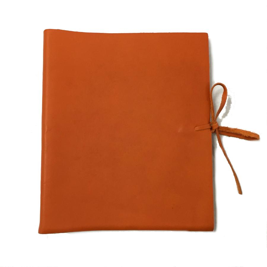 Il Papiro Medium  Leather Album / Pumpkin