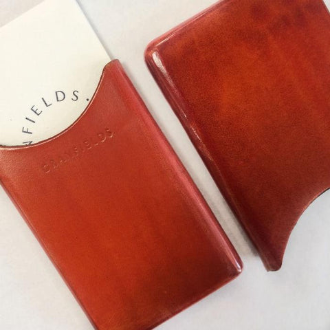 Italian Leather Card Pouch | Orange