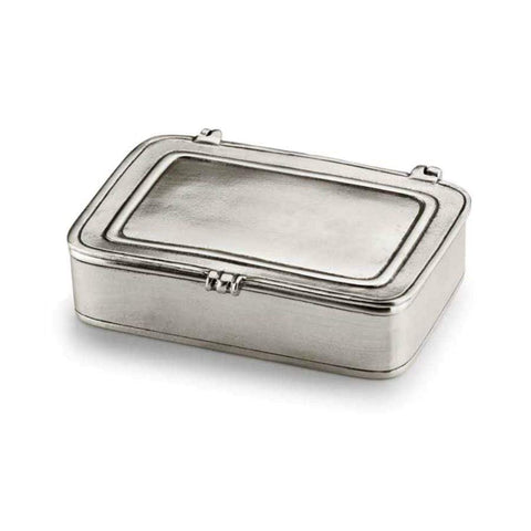 Italian Lidded Pewter Box