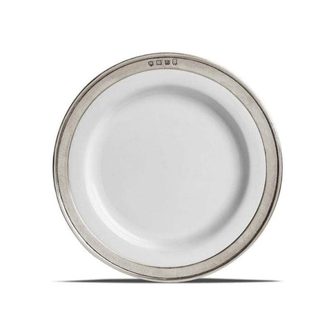 Italian Pewter and Ceramic Side Plate