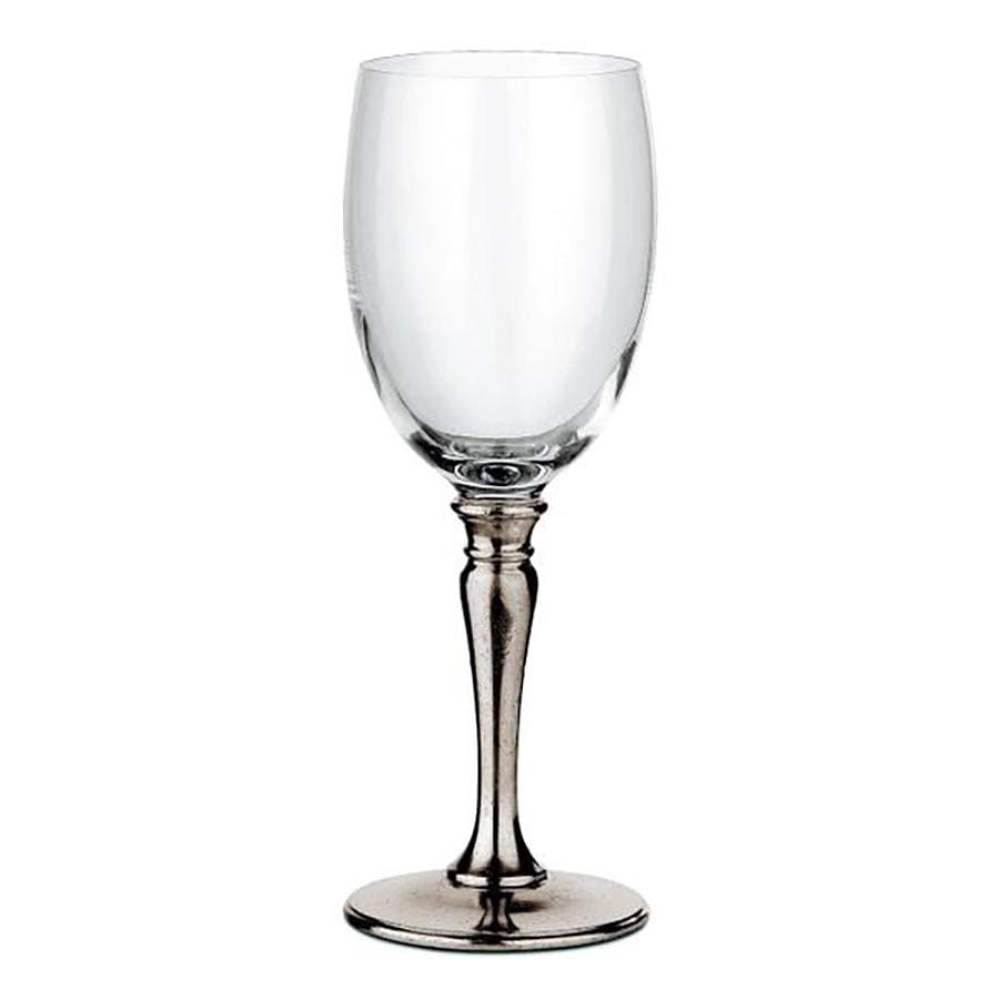 Italian Pewter and Crystal Glass - Wine