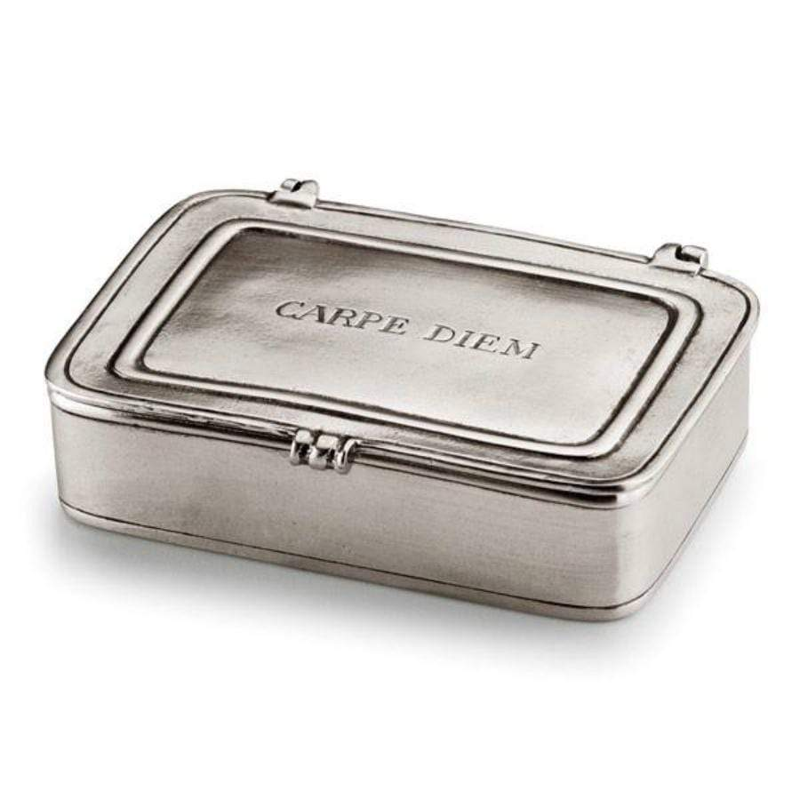 Italian Pewter Box- Carpe Diem