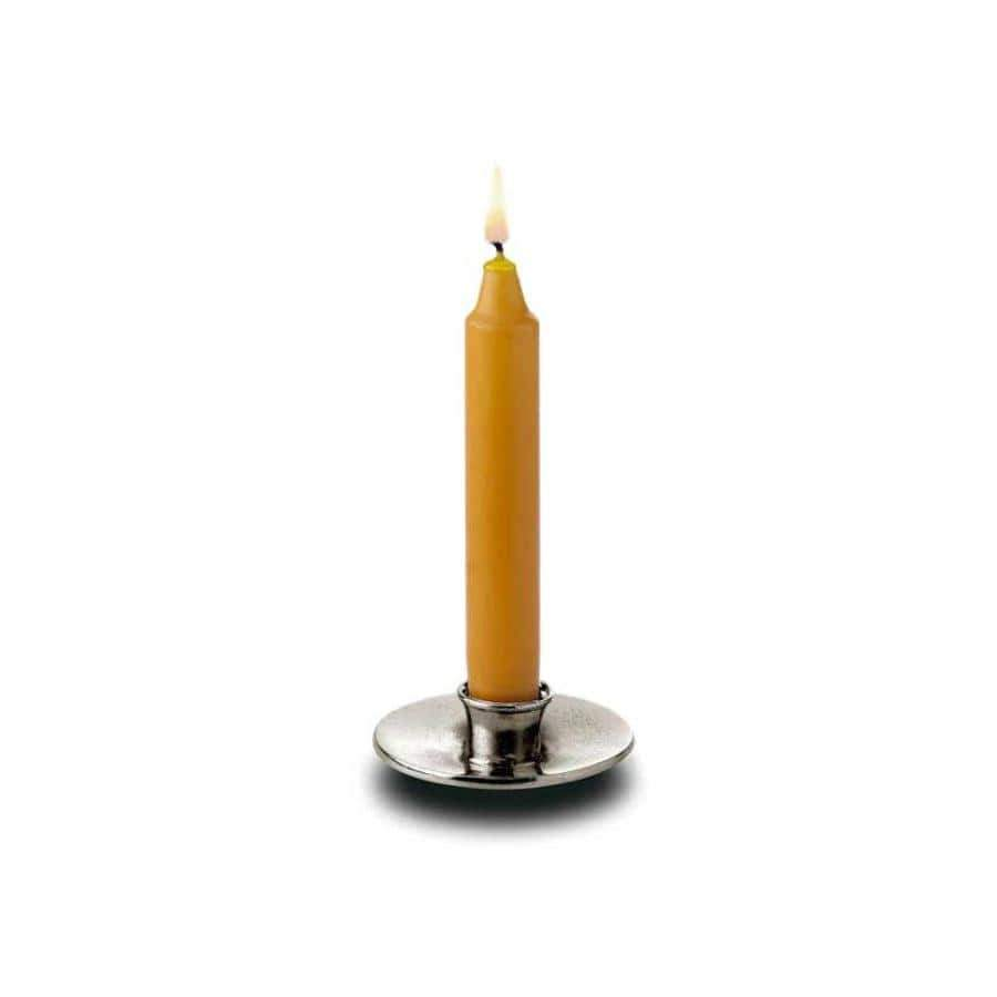 Italian Pewter Candle Holder mini
