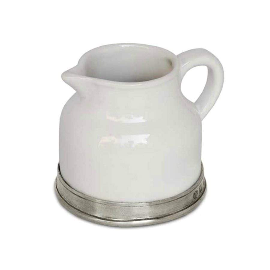 Italian Pewter Ceramic Jug - milk