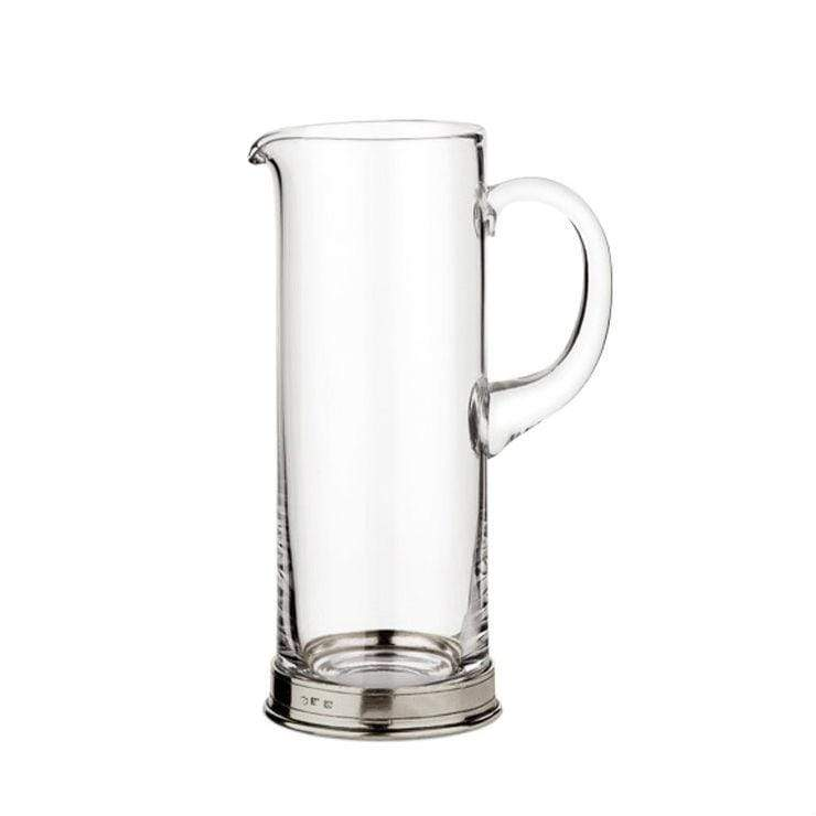 Italian Pewter & Crystal Pitcher