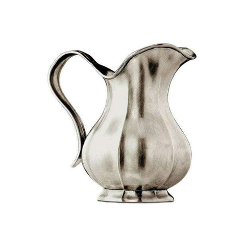 Italian Pewter Fluted Pitcher