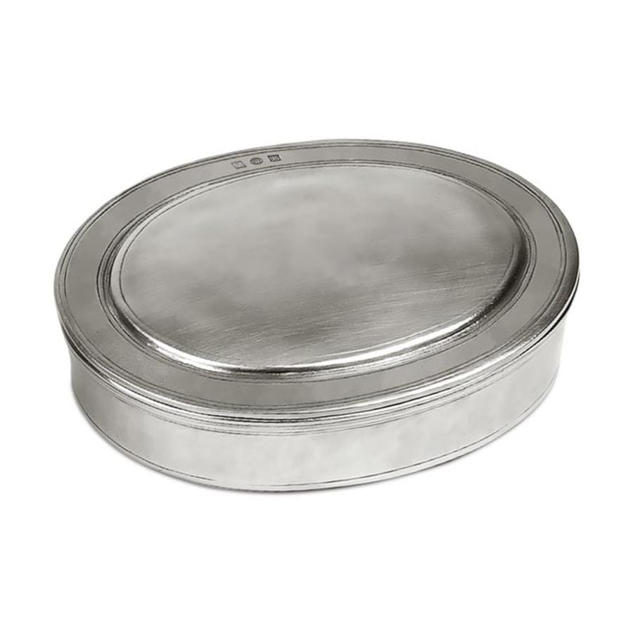 Italian Pewter Oval Box I Large