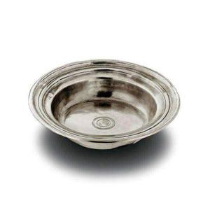 Italian Pewter Round incised bowl - large