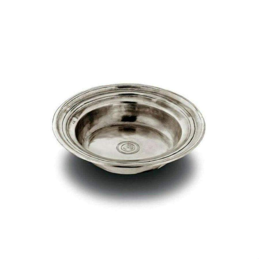 Italian Pewter Round incised bowl - medium