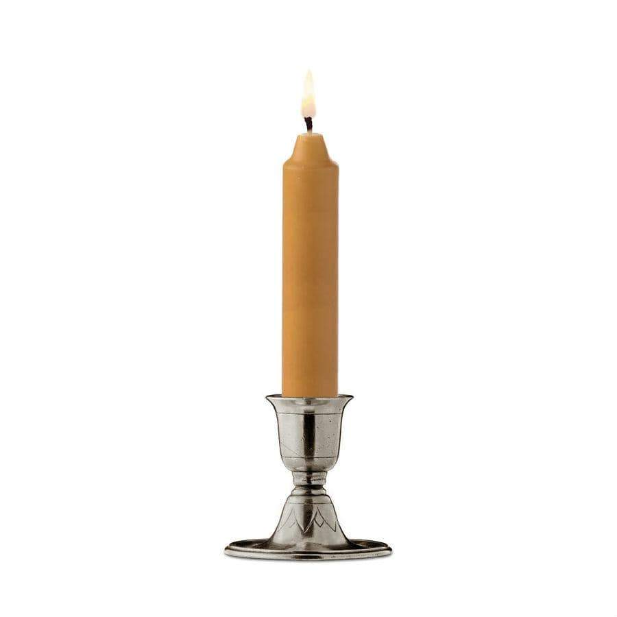 Italian Pewter Short Candlestick