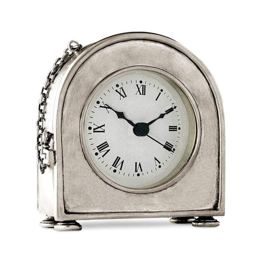 Italian Pewter Table Clock