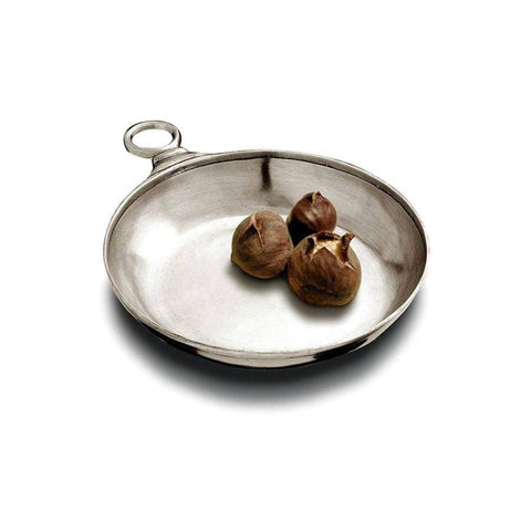 Italian Pewter Tasting Dish with Ring Handle